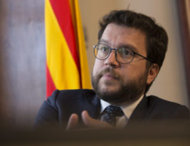 Pere Aragonès: 'Si permetem que donin ordres als treballadors de la Generalitat, ja no caldrà aplicar el 155'